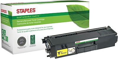 Staples® Remanufactured Yellow Toner Cartridge, Brother TN-310Y (SEBTN310YRDS)