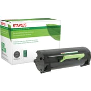 Staples® Remanufactured Laser Toner Cartridge, Lexmark MS/MX410 Series, Black, Extra High Yield