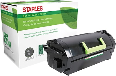 Staples® Remanufactured Laser Toner Cartridge, Lexmark MS/MX811 Series, Black, Extra High Yield