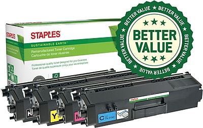 Clover Technologies Group Staples® Brother TN-315 High-Yield Remanufactured BCMY Toner Cartridges 4-Pack