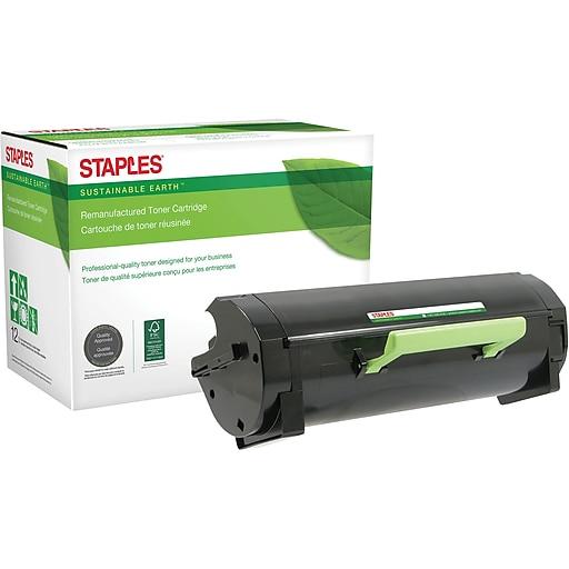 Staples Lexmark MS510 Remanufactured Black Laser MICR Toner Cartridge, Ultra High Yield