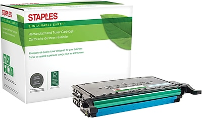 Staples® Remanufactured Color Laser Toner Cartridge, Samsung CLP-670, Cyan, High Yield