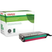 Staples® Remanufactured Color Laser Toner Cartridge, Samsung CLP-670, Magenta, High Yield