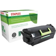 Staples® Remanufactured Laser MICR Toner Cartridge, Lexmark MS710, Black, High Yield