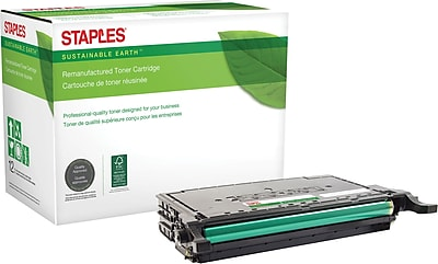 Staples® Remanufactured Color Laser Toner Cartridge, Samsung CLP-775, Black