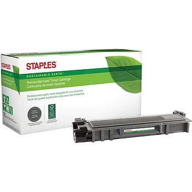 Staples® Sustainable Earth® - Cartouche de toner laser remise à neuf TN660 compatible Brother, noir, haut rendement (SEBTN660R)
