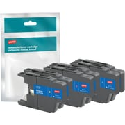 Staples® Remanufactured Inkjet Cartridge, Brother LC71 (LC713PKS/LC71C/LC71M/LC71Y) Cyan, Magenta, Yellow, 3-Pack