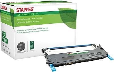 Staples® Remanufactured Color Laser Toner Cartridge, Dell 1230 (330-3015/J069K/330-3581), Cyan