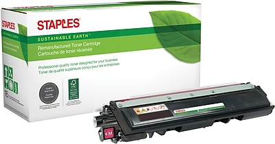 Staples® Remanufactured Color Laser Toner Cartridge, Brother TN210 (TN-210M), Magenta