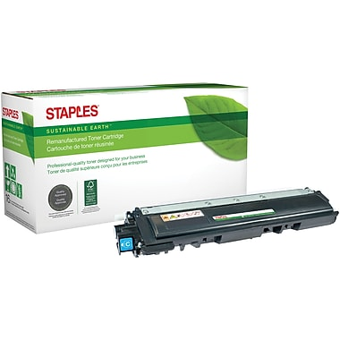 Staples Sustainable Earth Reman Cyan Toner Cartridge, Brother TN210C (SEBTN210CR)
