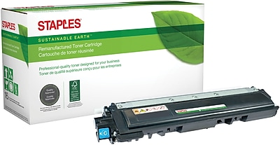 Staples® Remanufactured Color Laser Toner Cartridge, Brother TN210 (TN-210C), Cyan