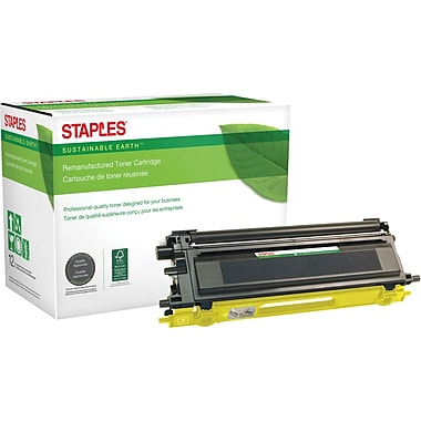 Sustainable Earth by Staples Remanufactured Yellow Toner Cartridge, Brother TN-110Y