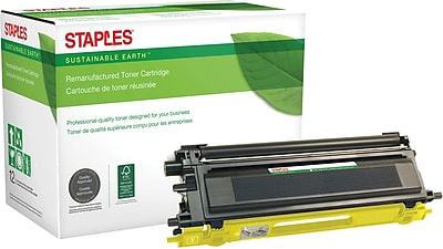 Staples® Remanufactured Color Laser Toner Cartridge, Brother TN110 (TN-110Y), Yellow