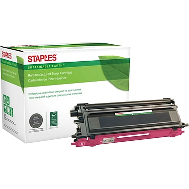 Sustainable Earth by Staples Remanufactured Magenta Toner Cartridge, Brother TN-110M
