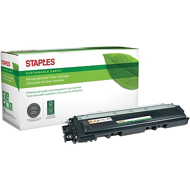 Staples® Sustainable Earth Reman Black Toner Cartridge, Brother TN210BK (SEBTN210BR)