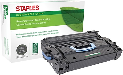 Staples® Remanufactured Laser MICR Cartridge, HP 43X (C8543X/02-81081-001), Black