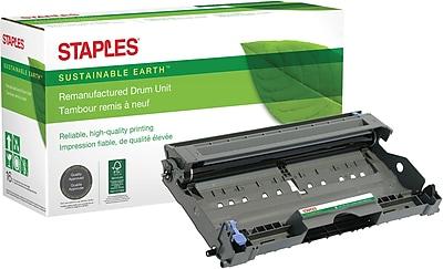 Staples® Remanufactured Laser Drum Unit, Brother DR350 (DR-350), Black