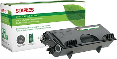 Staples® Remanufactured Black Toner Cartridge, Brother TN-430