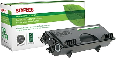 Staples® Remanufactured Laser Toner Cartridge, Brother TN530 (TN-530), Black