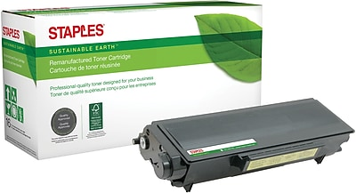 Staples® Remanufactured Laser Toner Cartridge, Brother TN580 (TN-580), Black, High Yield