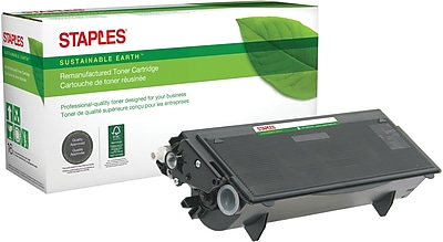 Staples® Remanufactured Laser Toner Cartridge, Brother TN570 (TN-570), Black, High Yield