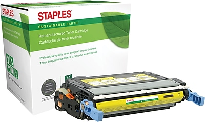 Staples® Remanufactured Color Laser Toner Cartridge, HP 644A (Q6462A), Yellow