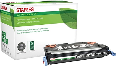 Staples® Remanufactured Color Laser Toner Cartridge, HP 314A (Q7560A), Black