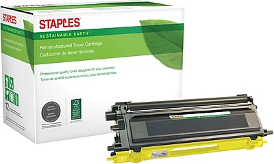 Staples® Remanufactured Yellow Toner Cartridge, Brother TN-115Y, High Yield