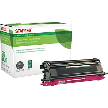 Staples® Sustainable Earth Reman Magenta Toner Cartridge, Brother TN115M, High-Yield (SEBTN115M)