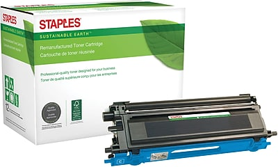 Staples® Remanufactured Color Laser Toner Cartridge, Brother TN115 (TN-115C), Cyan, High Yield