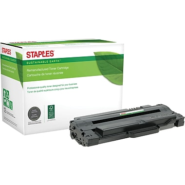 Sustainable Earth by Staples® Remanufactured Laser Toner Cartridge, Dell 1130 Black