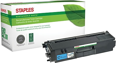 Staples® Remanufactured Color Laser Toner Cartridge, Brother TN315 (TN-315C), Cyan, High Yield