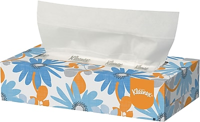 Kleenex® Facial Tissue, 2-PLY, White, 48 Boxes/Case, 125 Sheets/Box (21606)