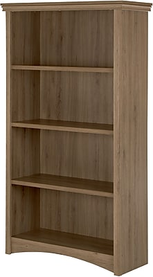 Gascony 4-Shelf Bookcase, Rustic Oak