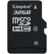 Kingston® SDC4/32GBSP Class 4 32GB microSDHC Flash Memory Card
