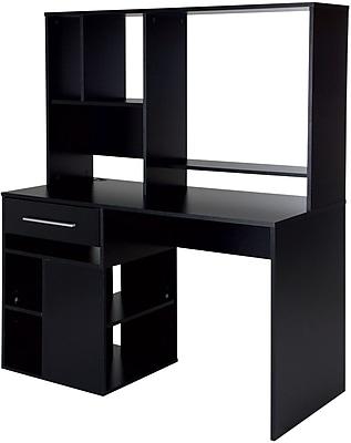 Annexe Home Office Computer Desk, Pure Black