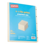 Staples Manila Top-Tab Guides, A-Z, Manila (9521-S)