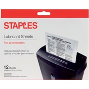 Staples® Shredder Lubricant Sheets 12/pk, Shredder Sheets