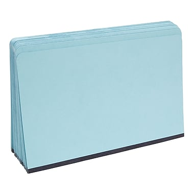 Staples Pressboard File Folders, Single Tab, Legal, Blue, 25/Box