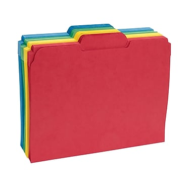 Staples® Secure Colored File Folders, Letter, 3 Tab, Center Position, 50/Box