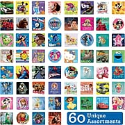 "SmileMakers® Licensed Character Sticker Sampler, Assorted Designs, 2-1/2"" Stickers, 5,950  Total Stickers (LI60-R)"