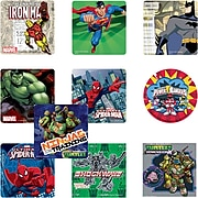 "SmileMakers® Superhero Licensed Character Sticker Sampler; Assorted Designs, 2-1/2"" Stickers, 1,000 Total Stickers (HERO-R)"