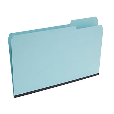 Staples 3-Tab Pressboard File Folders, Legal, Blue, 25/Box