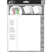 The Happy Planner® Note & Graph Paper - B&W stripes (FIL-02)