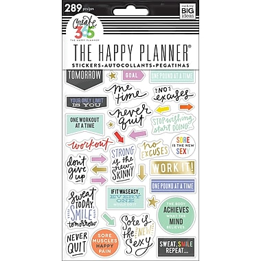 The Happy Planner® Value Pack Fitness Stickers (PPS-64)