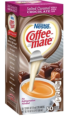 Nestle® Coffee-mate® Coffee Creamer, Salted Caramel Chocolate, .375 Oz. Liquid Creamer Singles, 50 Count