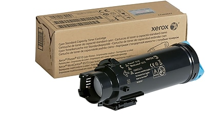 Xerox Cyan Standard Capacity Toner Cartridge, 106R03473, for use in Phaser 6510/WorkCentre 6515, 1000 pages