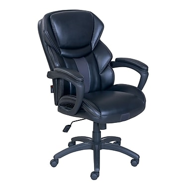 Dormeo Espo Octaspring Faux Leather Managers Office Chair, Fixed Arms, Black