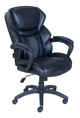 Dormeo Espo Octaspring Bonded Leather Managers Office Chair, Fixed Arms, Black