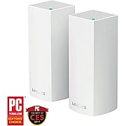 Linksys VELOP Whole Home Mesh Wi-Fi System AC2200 Tri Band Wireless and Ethernet Router, White (WHW0302)